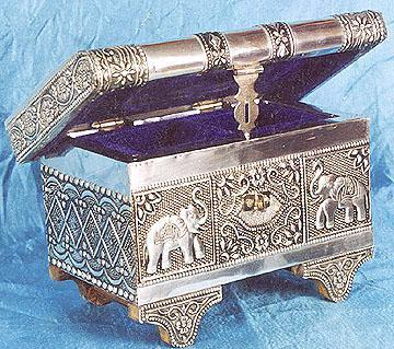 Embossed metal handicrafts