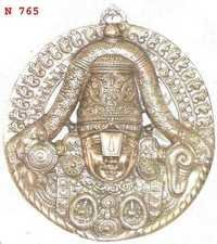 Balaji Face Medium Black Metal Balaji Wall Plate