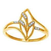 Ag Real Diamond BEAUTIFUL FANCY LEAVE SHAPE DIAMOND RING AGSR0199