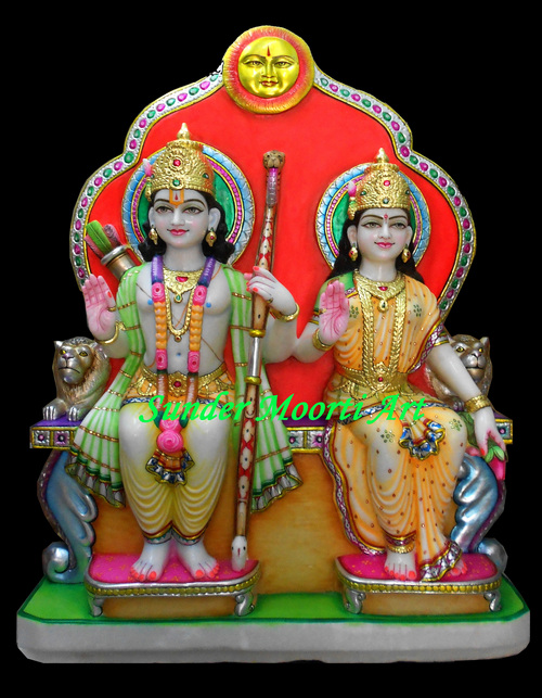 Colourful Marble Ram Darbar Statue