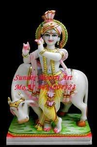 Marble Gopal Krishna Statue