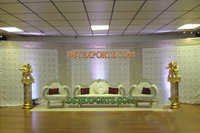 Latest Asian Wedding Silver Stage Set