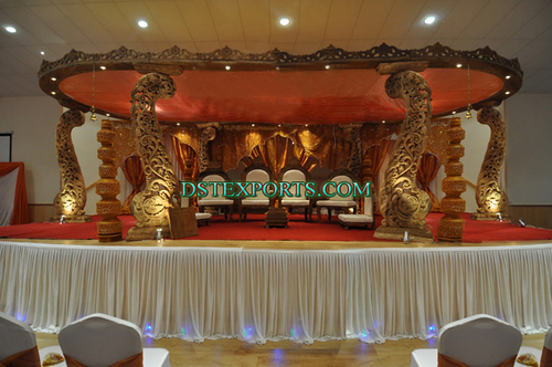 Latest Wedding Wooden Peacock Mandap