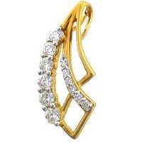 Avsar Real Gold and Diamond HAIR CLIP SHAPE DIAMOND PENDANT AVP0106