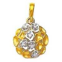 Avsar Real Gold and Diamond RUDRAKSH SHAPE DIAMOND PENDANT AVP0129