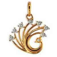 Avsar Real Gold and Diamond DIAMOND PECOCK SHAPE PENDANT AVP0138