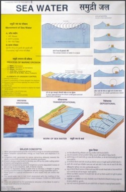 Sea Water Map Chart