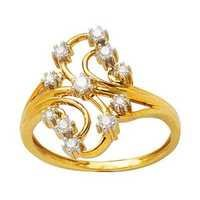 Avsar Real Gold And Diamond BEAUTIFUL FLOWER LOOK DIAMOND RING AVR128