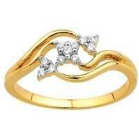 Avsar Real Gold And Diamond TRILLIANT FLOWER LOOK DIAMOND RING AVR129