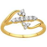 Avsar Real Gold And Diamond TRADITIONAL FLOWER LOOK DIAMOND RING AVR133