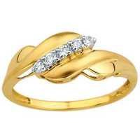 Avsar Real Gold And Diamond CLASSIC ROYAL LOOK DIAMOND RING AVR135