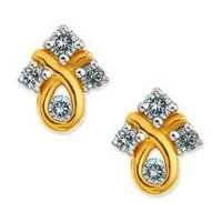 Avsar Real Gold and Diamond TWISTED KITE SHAPE DIAMOND RING AVE0149