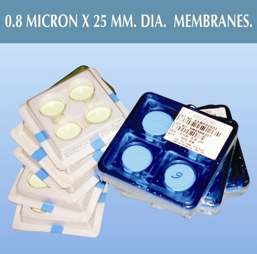 o.8 micron x 25 mm.dia. membranes