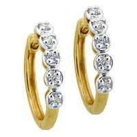 Bling Diamond Accessories Daily Wear BALI SHAPE EARRING BGE071