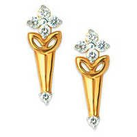 Bling Diamond Accessories Daily Wear FLOWER CLIP SHAPE EARRING BGE073