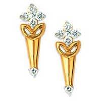Bling Diamond Accessories Daily Wear FLOWER CLIP SHAPE EARRING BGE073