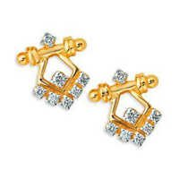 Bling Diamond Accessories Daily Wear WIMSICAL RAJASTANI DIAMOND EARRING BGE075