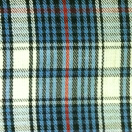 Blue Yarn Dyed Check Twill Fabric