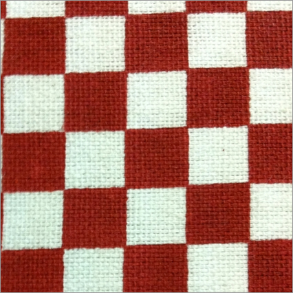 Chess Board Printed Low Duck Fabric