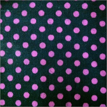Dotted Printed Black Canvas Fabric