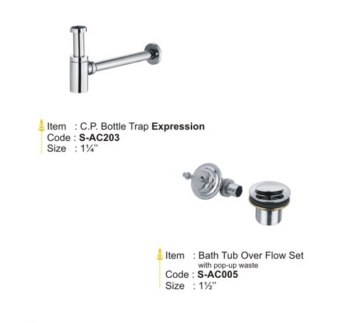Bath Tub Over Flow Set