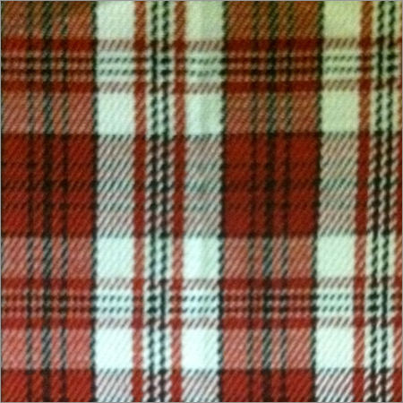 Red Yarn Dyed Check Twill Fabric