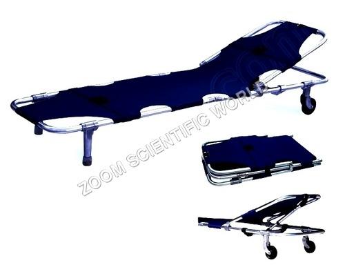 Stretcher Single Fold With Adjustable Back Rest