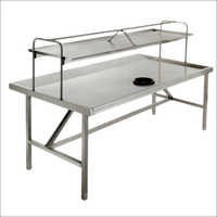 Dish Landing Table With Oh Glass Rack