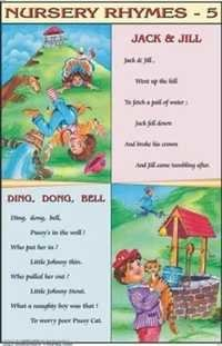 Jack And Jill & Ding, Dong, Bell Nursery Rhymes Chart
