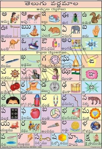Telugu Alphabet Charts
