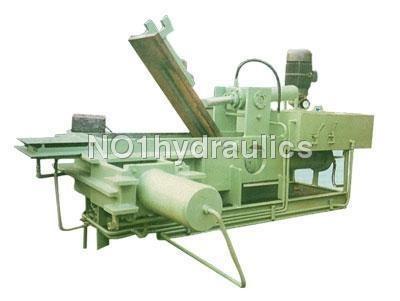 Triple Compress Scrap Baling Press