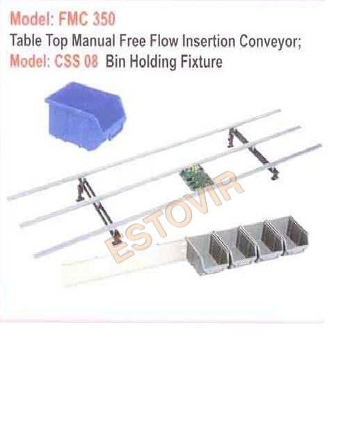 Motorised Free Flow Manual Insertion Coveyor (FMC 3 Channel)