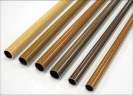 Wood Finish Curtain Rods