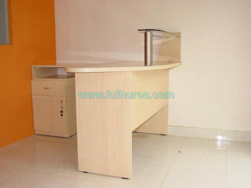 Reception Area Table with glass top
