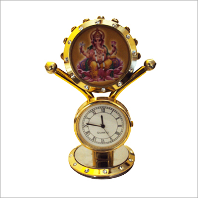 Table Top Watch With Ganesha Statue