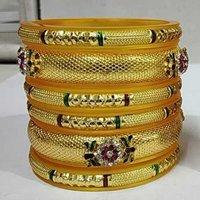 Colorful Beaded Kada Bangles