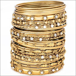 Gold Plated Bangle Set