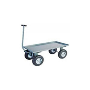 Pneumatic Wheels Platform Truck