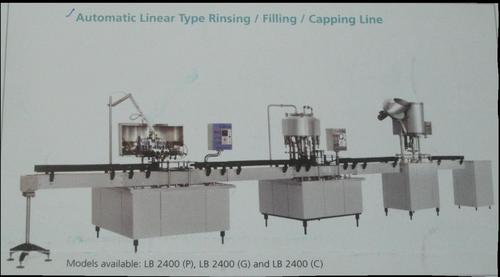 Automatic Linear Type Bottle Filling Machine