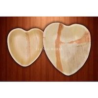 Heart Shaped Areca Leaf Bowl