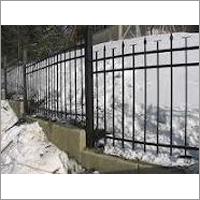 Outdoor Cement Security Fencing
