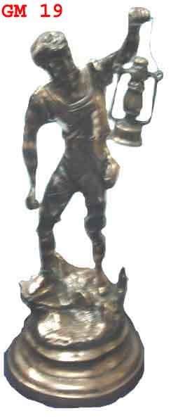 BLACK METAL LAMP MAN