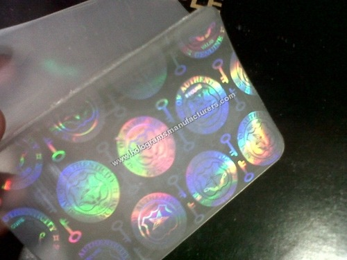 Holographic lamination pouches for cards documents
