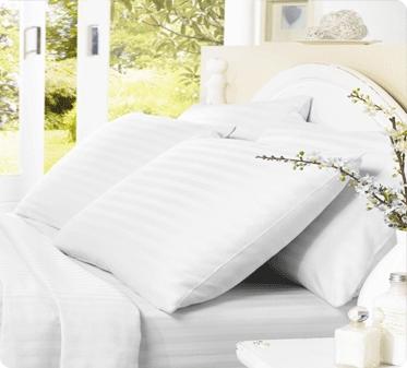 Satin Stripes Flat Bed Sheets