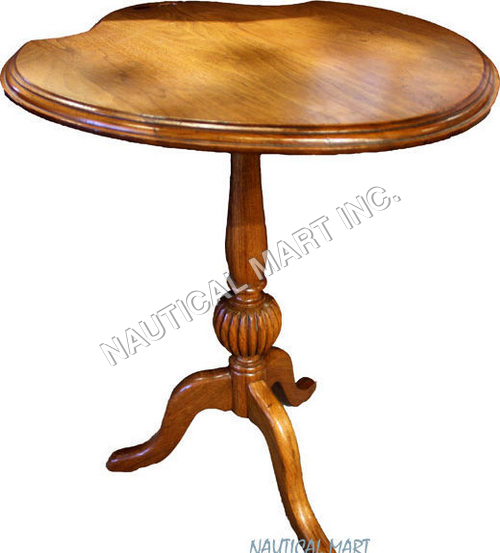ANTIQUE PEAR WOOD FLIP TOP TABLE