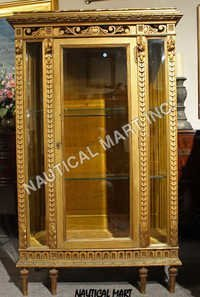 ANTIQUE FRENCH LOUIS XVI  STYLE CURIO DISPLAY CABINET CIRCA