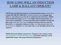 How Long will  Induction Lamp & Ballast Operate