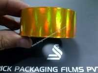 Holographic Self Adhesive Tapes (Rainbow Gold)