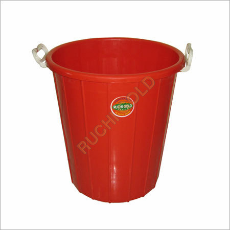 Red Plastic Dustbin / Drum
