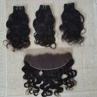 Natural Virgin Body wave and frontal 13*4